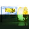 123-3D Filament glow in the dark groen 1,75 mm PLA 1 kg Jupiter serie (123-3D huismerk)  DFP11026