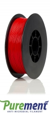 123-3D Purement antimicrobieel filament rood 1,75 mm PLA 0,6 kg  DFP03002