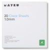 Mayku Cast Sheets 1 mm (transparant 20 stuks)  DAR00264
