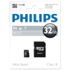 Philips MicroSD geheugenkaart class 10 inclusief SD adapter - 32GB