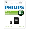 Philips MicroSD geheugenkaart class 10 inclusief SD adapter - 8GB